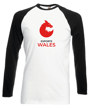 Esports Wales - Contrast Baseball Long Sleeve T-Shirt