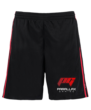 Parallax Gaming - Contrast Mesh Lined Sports Shorts