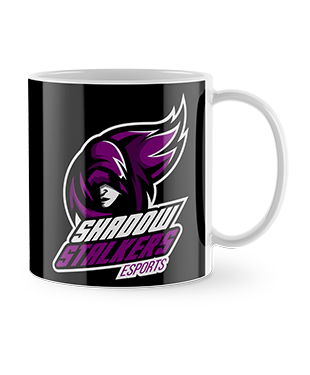 Shadow Stalker Esports - Drinking Mug - Black Background