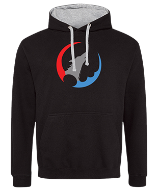 Wolves of Time - Contrast Hoodie