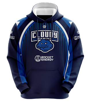 Cloudy - Esports Hoodie without Zipper - Blue
