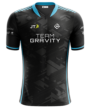 Team Gravity - Pro Esports Jerseys - With Sponsors - Two Piece V-Neck Collar
