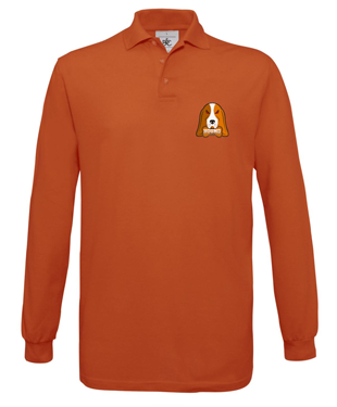 Hound eSports - Long-sleeved Fine Piqué Polo Shirt