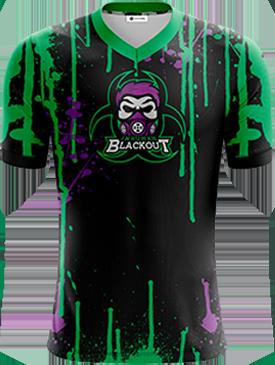 InHumanBlackout - Short Sleeve Esports Jersey