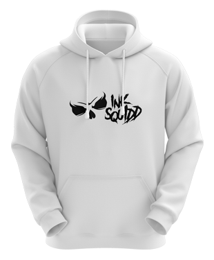 Ink Squid - Full Logo Hoodie - White