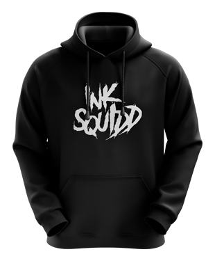 Ink Squid - Text Logo Hoodie - Black