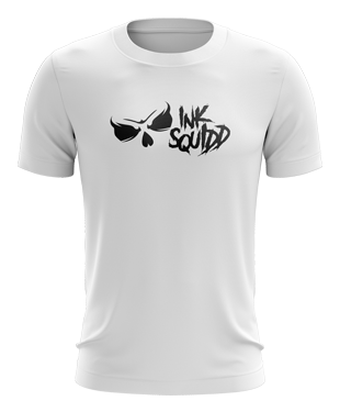 Ink Squid - Full Logo T-Shirt - White