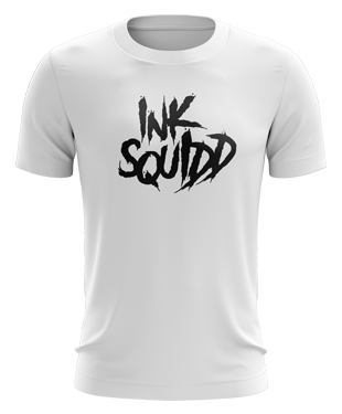 Ink Squid - Text Logo T-Shirt - White
