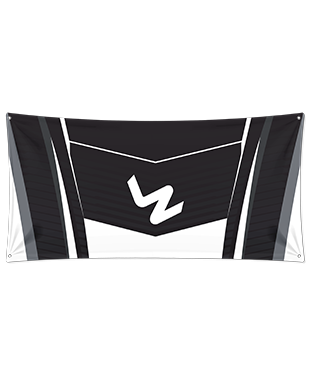 LyZo Esports - Wall Flag - Black