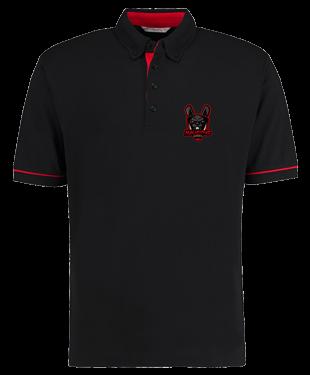 Malicious Esports - Button Down Collar Contrast Piqué Polo Shirt
