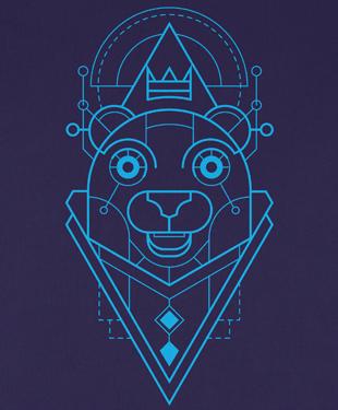 Mythical Geometry - Bear - Organic T-Shirt