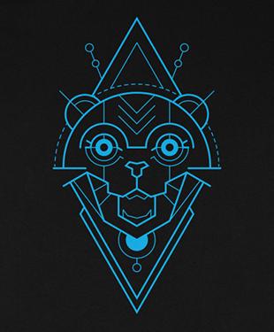 Mythical Geometry - Cat - Organic T-Shirt