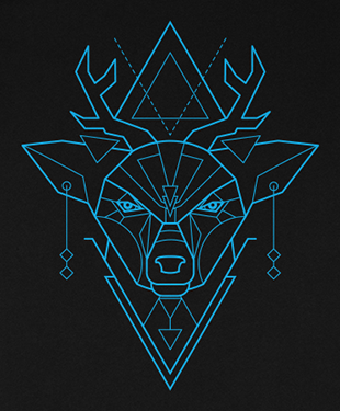 Mythical Geometry - Deer - Organic T-Shirt
