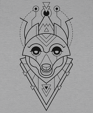 Mythical Geometry - Fox - Organic T-Shirt