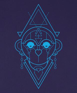 Mythical Geometry - Monkey - Organic T-Shirt