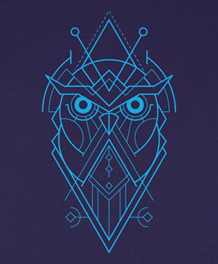 Mythical Geometry - Owl - Organic T-Shirt