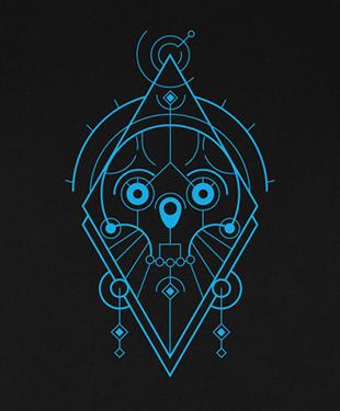 Mythical Geometry - Skull - Organic T-Shirt