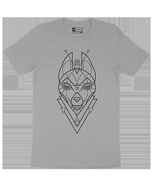 Mythical Geometry - Wolf - Organic T-Shirt