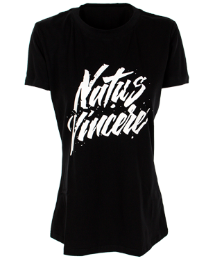 NaVi - Female Calligraphy T-Shirt - Black