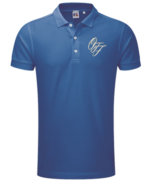 OTF - Stretch Piqué Polo Shirt - Azure