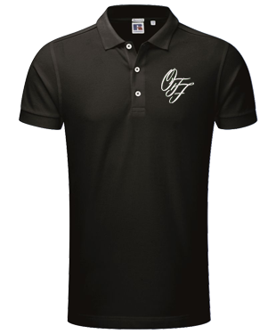 OTF - Stretch Piqué Polo Shirt - Black