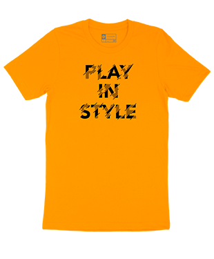 Play In Style - Distorted - Unisex T-Shirt - Orange