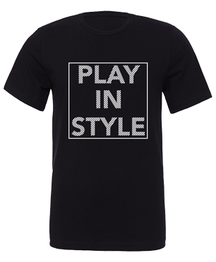 Play In Style - Boxed - Unisex T-Shirt - Black