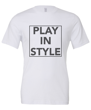 Play In Style - Boxed - Unisex T-Shirt - White