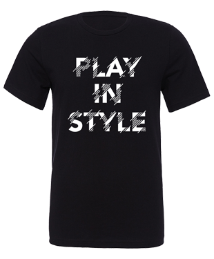 Play In Style - Distorted - Unisex T-Shirt - Black
