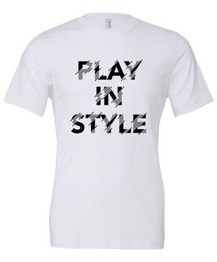 Play In Style - Distorted - Unisex T-Shirt - White
