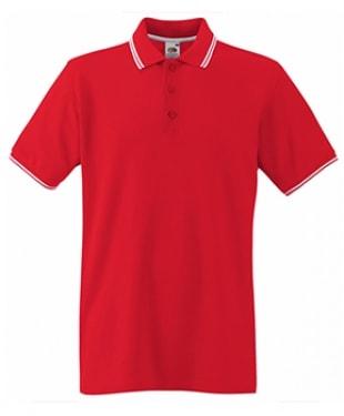 Fruit of the Loom - Premium Tipped Cotton Piqué Polo Shirt