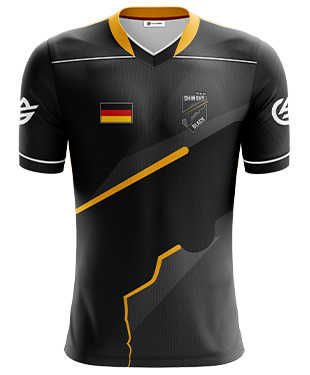Shinsky Black - Short Sleeve Esports Jersey