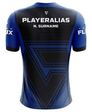 Team Flux - Pro Short Sleeve Esports Jersey - Blue