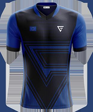Team Flux - Pro Short Sleeve Esports Jersey - Blue