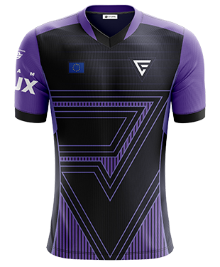 Team Flux - Pro Short Sleeve Esports Jersey - Purple