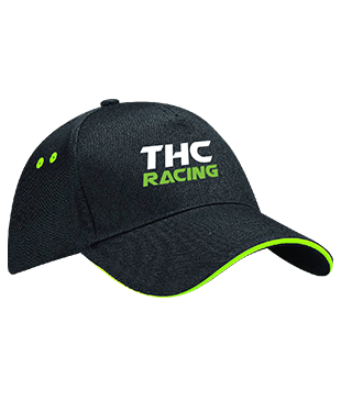 THC RACING - 5 Panel Cap with Sandwich Peak