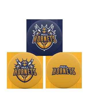 Hull Hornets - Badge Pack (3 x Pin Badges)