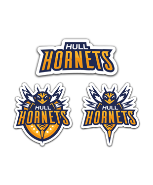 Hull Hornets - Sticker Pack (3 x Stickers)